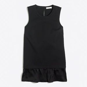 J. Crew Black Layered Sleeveless Top Size Small